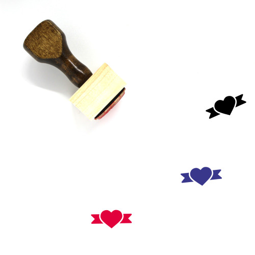 Heart Wooden Rubber Stamp No. 942