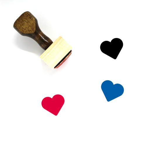 Heart Wooden Rubber Stamp No. 985