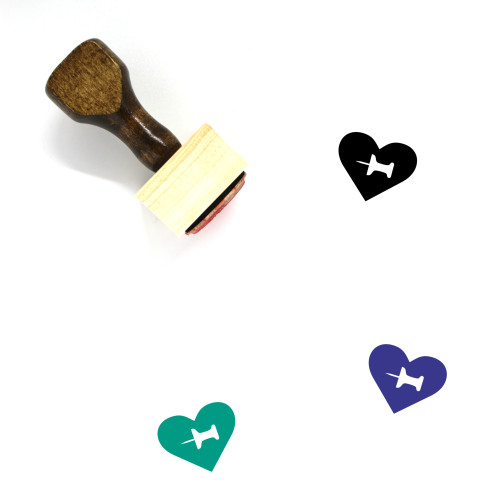 Heart Wooden Rubber Stamp No. 1045