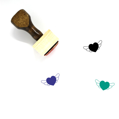Heart Wooden Rubber Stamp No. 1087