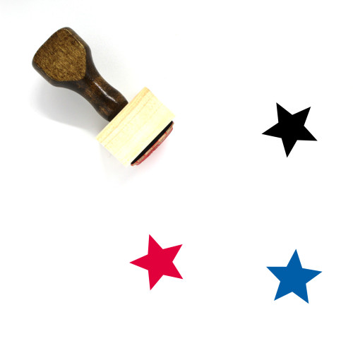 Star Wooden Rubber Stamp No. 635