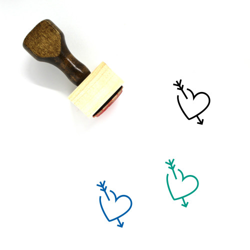 Heart Wooden Rubber Stamp No. 1115