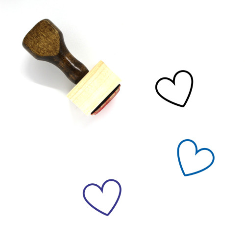 Heart Wooden Rubber Stamp No. 1117
