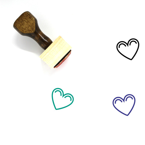 Heart Wooden Rubber Stamp No. 1118