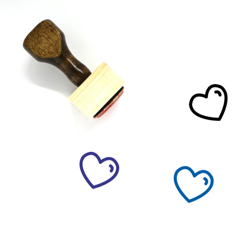 Heart Wooden Rubber Stamp No. 1125