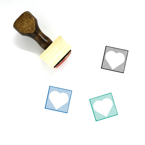 Heart Wooden Rubber Stamp No. 1135