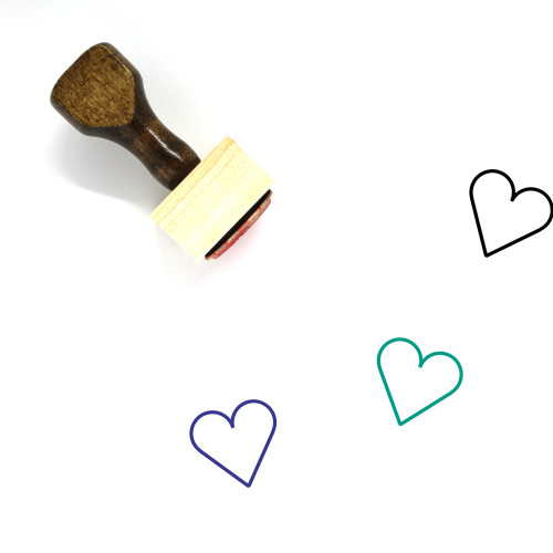 Heart Wooden Rubber Stamp No. 1148