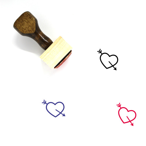 Heart Wooden Rubber Stamp No. 1149