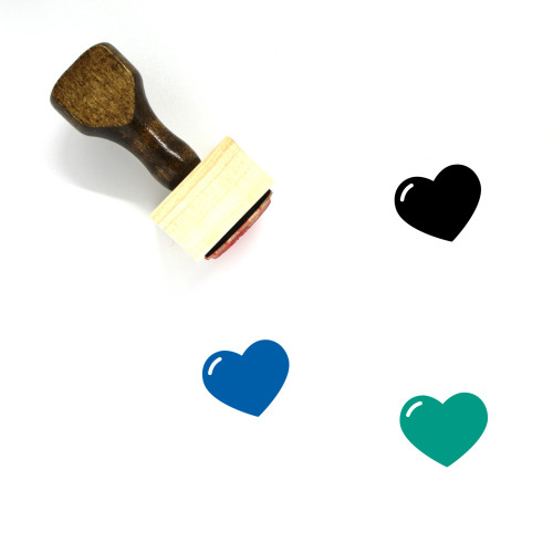 Heart Wooden Rubber Stamp No. 1150