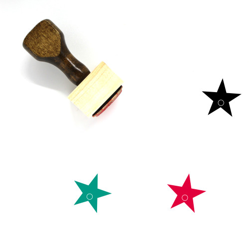 Star Wooden Rubber Stamp No. 648