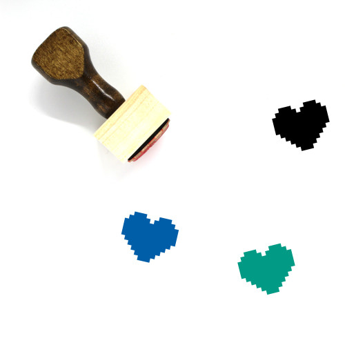 Heart Wooden Rubber Stamp No. 1153