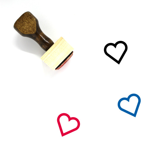 Heart Wooden Rubber Stamp No. 1176