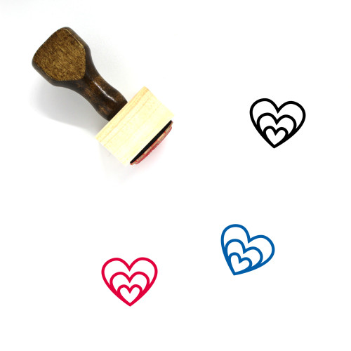 Heart Wooden Rubber Stamp No. 1186