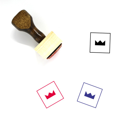 Crown Wooden Rubber Stamp No. 991