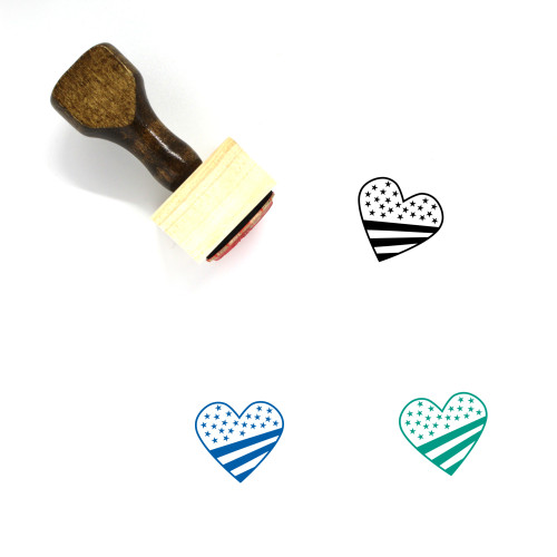 Heart Wooden Rubber Stamp No. 1289