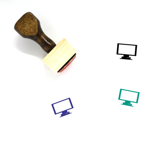 Television Wooden Rubber Stamp No. 7
