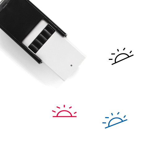Sunrise Self-Inking Rubber Stamp No. 23