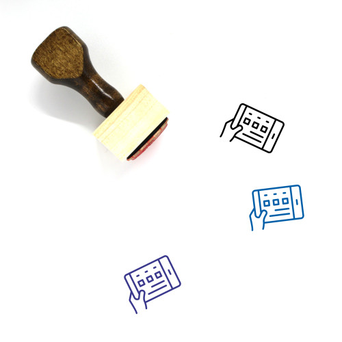 Mobile Interface Wooden Rubber Stamp No. 1