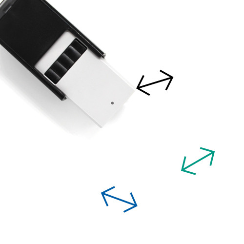 Horizontal Arrows Self-Inking Rubber Stamp No. 1