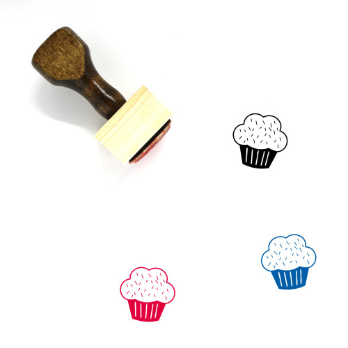 Cupcake Wooden Rubber Stamp No. 36