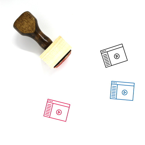 Video Player Wooden Rubber Stamp No. 1