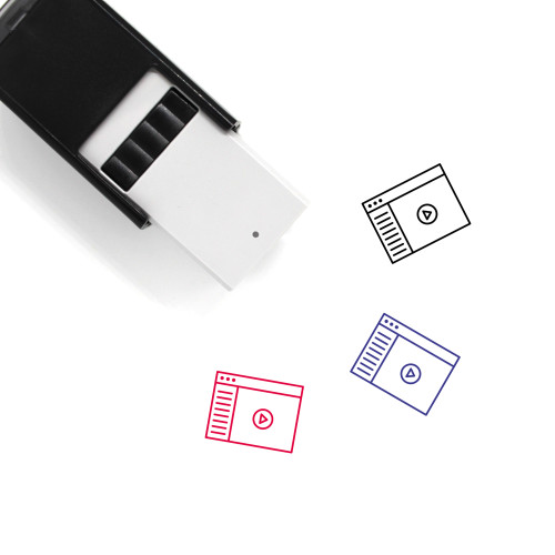 Video Player Self-Inking Rubber Stamp No. 1