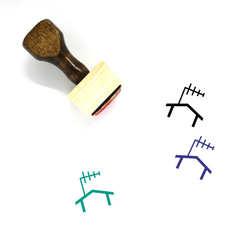 Outdoor Antenna Wooden Rubber Stamp No. 1
