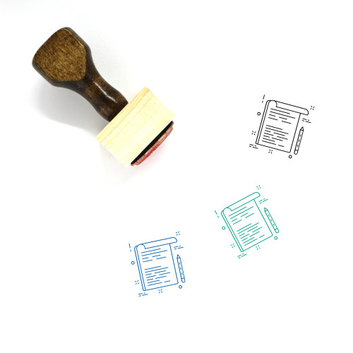 Article Wooden Rubber Stamp No. 6