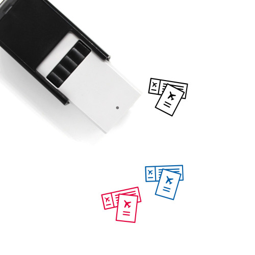 Travel Documents Self-Inking Rubber Stamp No. 1