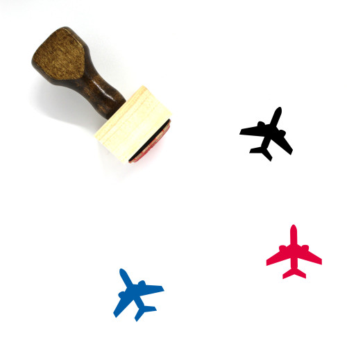 Airplane Wooden Rubber Stamp No. 181