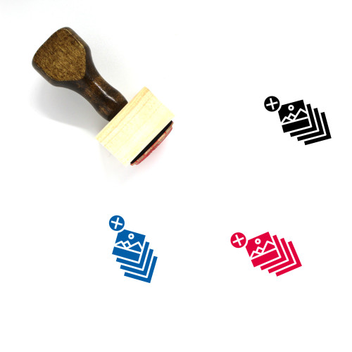 Layers Wooden Rubber Stamp No. 11
