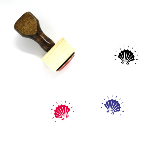 Shell Wooden Rubber Stamp No. 27