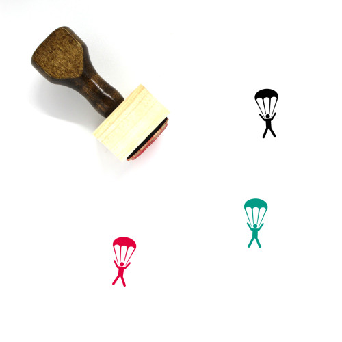 Parachute Wooden Rubber Stamp No. 3
