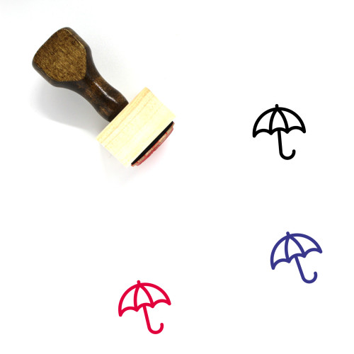 Umbrella Wooden Rubber Stamp No. 47