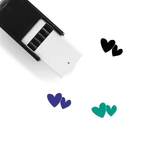 Hearts Self-Inking Rubber Stamp No. 213
