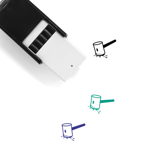 Hammer Self-Inking Rubber Stamp No. 3