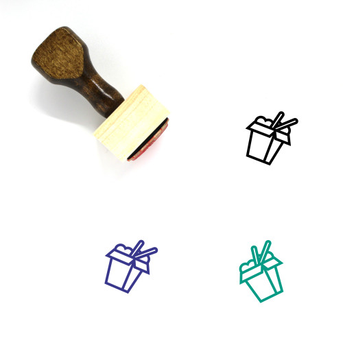 Chinese Takeout Wooden Rubber Stamp No. 1