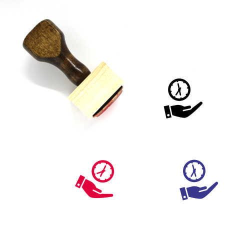 Save Time Hand Wooden Rubber Stamp No. 2