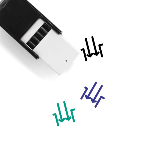 Arrow Inside Gap Self-Inking Rubber Stamp No. 1