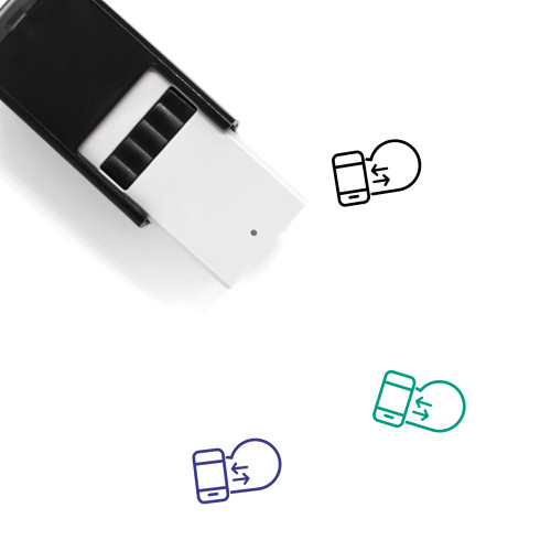 Data Transfer Self-Inking Rubber Stamp No. 2