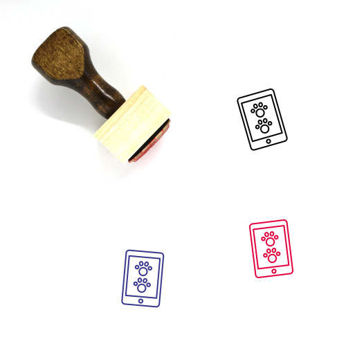 Animal App Wooden Rubber Stamp No. 1