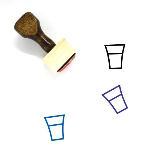 Shot Glass Wooden Rubber Stamp No. 3