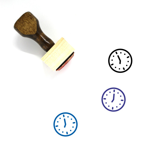 7 O'Clock Wooden Rubber Stamp No. 1