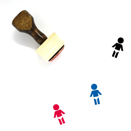 Baby Changing Facilities Wooden Rubber Stamp No. 1