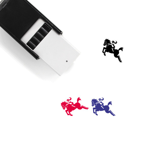 Horse Riding Self-Inking Rubber Stamp No. 1