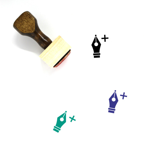 Add Anchor Point Wooden Rubber Stamp No. 1