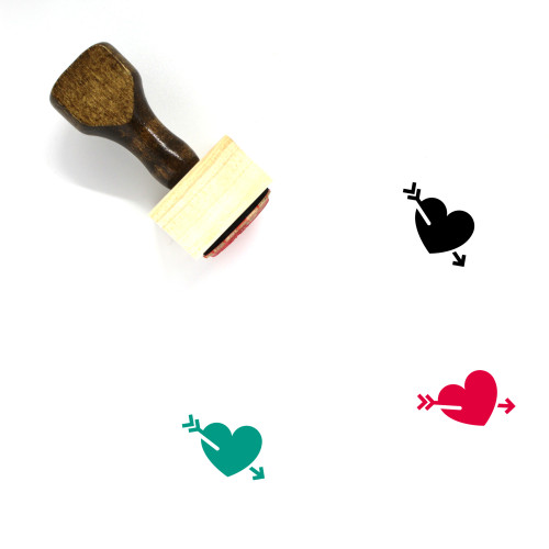 In Love Heart Wooden Rubber Stamp No. 1