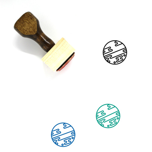 Planet Wooden Rubber Stamp No. 48