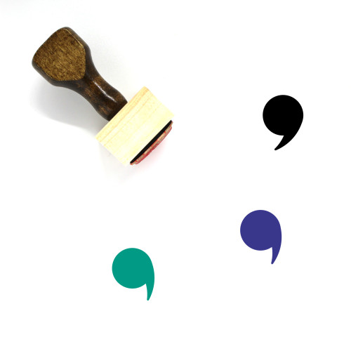 Comma Wooden Rubber Stamp No. 1