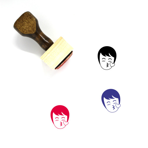Kiss With Love Wooden Rubber Stamp No. 1